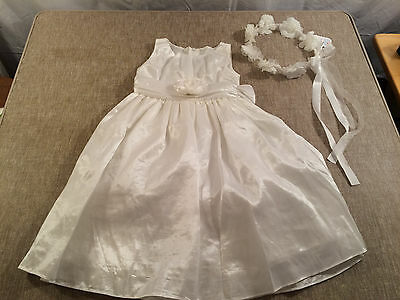toddler girls SWEET KIDS ivory FLOWER GIRL dress size 2T wedding formal EASTER