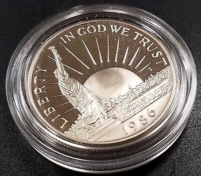 1986 S Proof Statue of Liberty Commemorative Half Dollar in capsule!