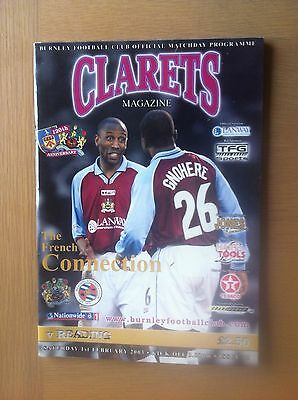 Burnley V Reading 2002-03