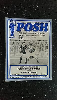 Peterborough United V Wigan Athletic 1980-81