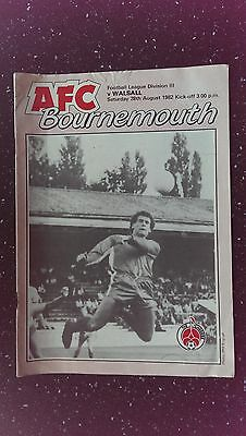 Bournemouth V Walsall 1982-83