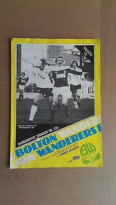 Bolton Wanders V Derby County 1981-82