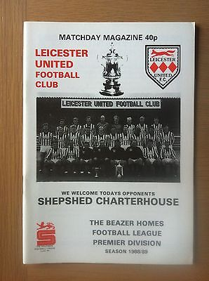 Leicester United V Shepshed Charterhouse 1988-89