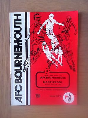 Bournemouth V Hartlepool 1977-78