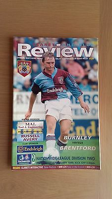 Burnley V Brentford 1997-98
