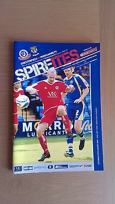 Chesterfield V Morecambe 2009-10