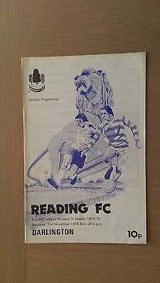 Reading V Darlington 1974-75