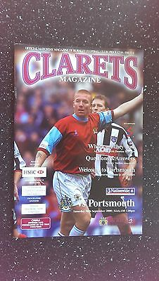 Burnley V Portsmouth 2000-01
