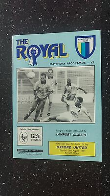 Reading V Oxford United 1990-91