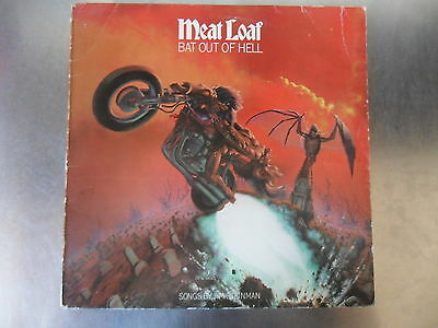 Meat Loaf - Bat Out Of Hell- Vinyl LP -  A2 / B2 - EX / VG - UK