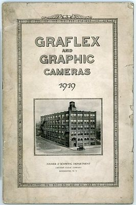 Graflex & Graphic Cameras Catalog 1919; 64 p. Fully Illustrated w Prices g79