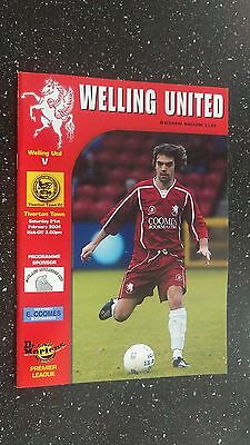 Welling United V Tiverton Town 2003-04.