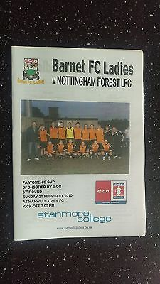 Barnet Ladies V Nottingham Forest Ladies 2009-10.