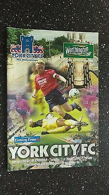 York City V Crewe Alexandra 2001-02