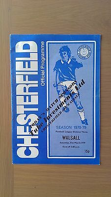 Chesterfield V Walsall 1978-79