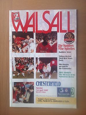 Walsall V Chesterfield 1996-97