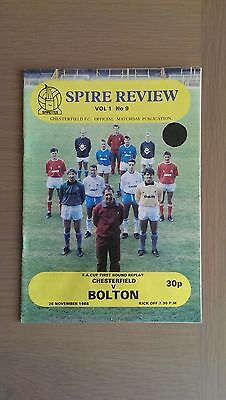 Chesterfield V Bolton Wanderers 1988-89