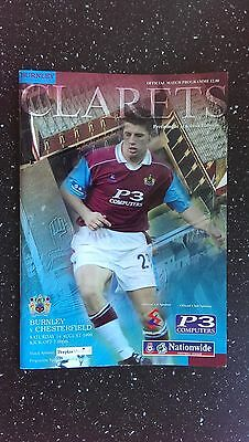 Burnley V Chesterfield 1999-00