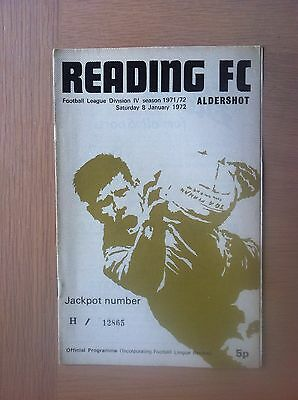 Reading V Aldershot 1971-72