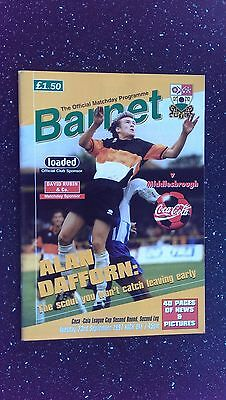Barnet V Middlesbrough 1997-98