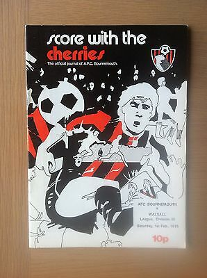 Bournemouth V Walsall 1974-75