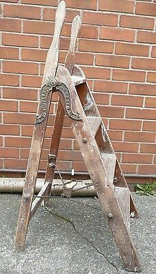 Pair of Antique Simplex Library ladders