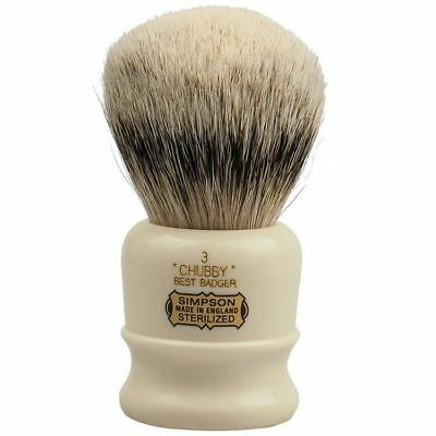 Simpsons Best Badger Shaving Brush Chubby 3 **OZ SELLER*QUICK POST**