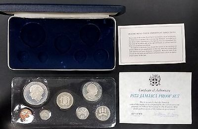 1973 Jamaica Proof Set! 7 Coins! Includes the Five Dollars Sterling Silver coin!