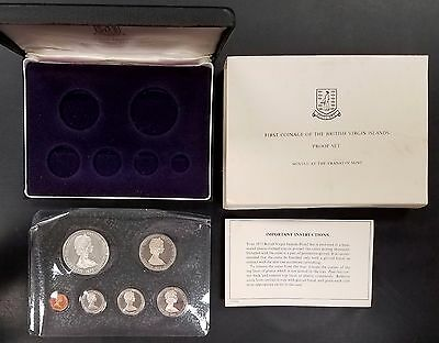 1973 British Virgin Islands Proof Set! One Dollar Sterling Silver coin included1