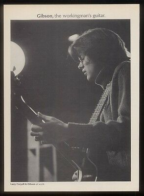 1968 Larry Coryell photo Gibson guitar vintage print ad