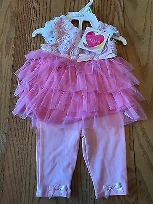 NWT  YOUNGLAND BABY  Girls  2 pc Pink Outfit    Size 3/6 Months   PRETTY!