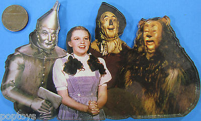 """MAGNET 5 x 3.5"""" WIZARD OF OZ Lucite/Acrylic-Topped Tin Man Dorothy Cowardly Lion"""