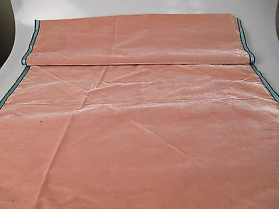 Antique French Millinery Velvet Fabric Cotton Silk Early 19 C pastel pink