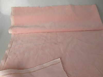 Vintage Velvet Fabric Remnant Germany Cotton 34 in W Pastel pink
