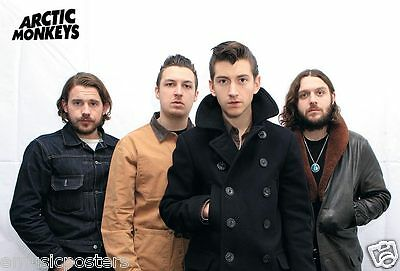"""ARCTIC MONKEYS """"BAND WEARING COATS"""" POSTER FROM ASIA - U.K. Indie Rock Music"""
