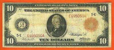 $10 1914 BETTER *RED SEAL* RICHMOND Federal Reserve Note!