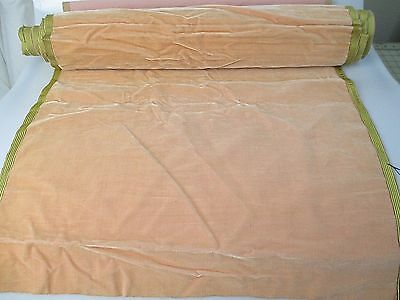 Antique velvet fabric  Lyons France Victorian cotton silk Pastel pink 3324