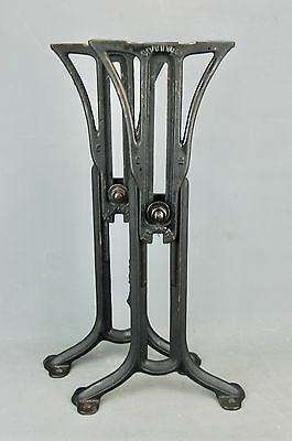 """Industrial Machine Age Steampunk Iron Adjustable Table Legs Base 23""""H Chandler"""