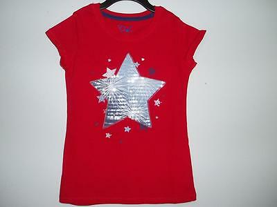 New Proud American Girls Red Short Sleeve Star Sequin T-Shirt