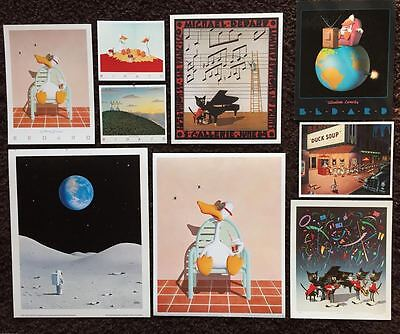 """Sitting Duck"" BEDARD BONANZA~Vintage Collection~9 Rare Mini-Prints: 1970s~1980s"