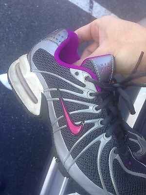 Nike Max Air Womens Size 7 Workout Running Shoes Purple Silver Tennis Black
