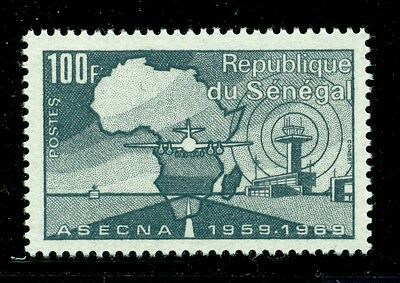 Senegal Scott #321 MNH ASECNA Civil Aviation Plane MAP $$