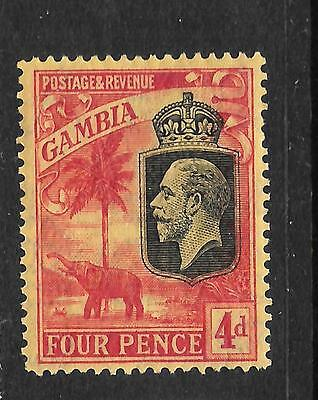 GAMBIA  1922-29  4d  KGV   MLH   SG 129