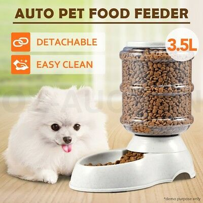 New 3.5L Automatic Pet Dog Cat Eating Food Feeder Bowl Bottle Dispenser Plastic