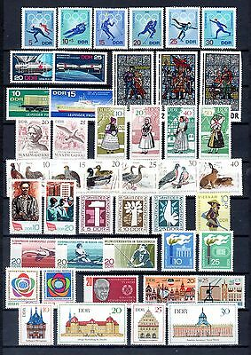 East-Germany/GDR/DDR: All stamps of 1968 in a year set complete, MNH