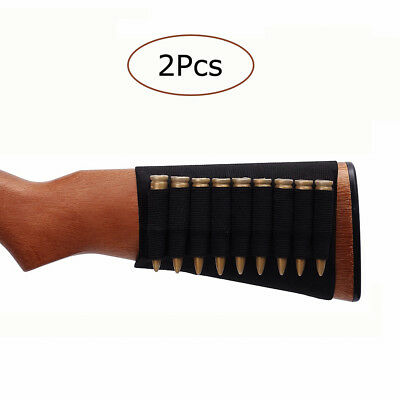 9 Round Shells Holder Rifle Butt Stock Cartridge Rifle Holster Ammo Bullet Pouch