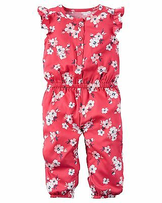 """Floral......Baby Girls Carter's Jumpsuit....""""NWT"""" (12 Months)"""