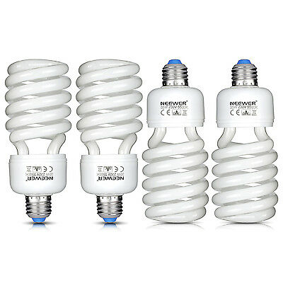 Neewer 35W 220V 5500K Ampoule Tri-phosphore Spirale CFL Daylight (4Pack)