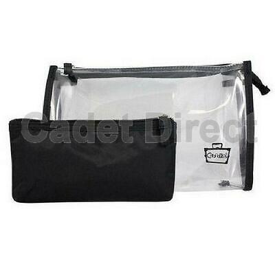 Small Clear Travel Makeup Purse |  Black Padded Pencil Case | Caboodles Dynamic