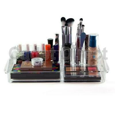 Luxury Clear Acrylic Makeup Cosmetics Organiser w/ 8 Compartments